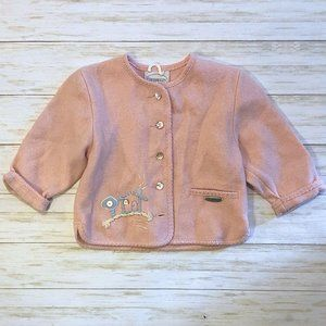 🆕Giesswein Pink Merino Wool House Button Cardigan